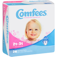 Comfees CMF-G2 Girls Training Pants-2T-3T-156/Case