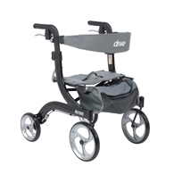 Drive Medical Nitro Euro Style Walker Rollator, Hemi Height