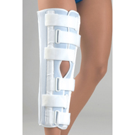 FLA Orthopedics 38-140002 Microban Tri Panel Knee Immobilizer-White